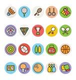 Iconos 1 del vector de los deportes ilustración del vector