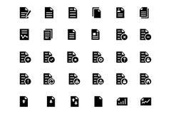 Iconos 1 del vector de los documentos imagen de archivo
