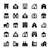 Iconos 2 del vector de los edificios Fotos de archivo libres de regalías
