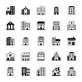 Iconos 2 del vector de los edificios Imagenes de archivo