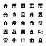 Iconos 1 del vector de los elementos de la ciudad stock de ilustración