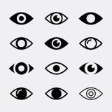 Iconos del vector de los ojos Fotos de archivo libres de regalías