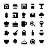 Iconos 3 del vector de los utensilios de la cocina Fotografía de archivo libre de regalías