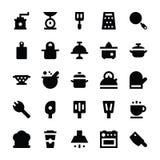 Iconos 7 del vector de los utensilios de la cocina Foto de archivo libre de regalías