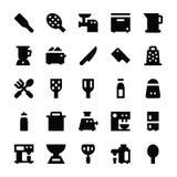 Iconos 8 del vector de los utensilios de la cocina Foto de archivo libre de regalías