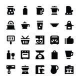 Iconos 11 del vector de los utensilios de la cocina Foto de archivo