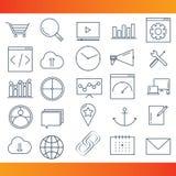 Iconos del vector de SEO Fotos de archivo libres de regalías