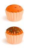 Iconos del vector de tortas apetitosas Fotos de archivo libres de regalías