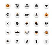 Iconos del vector de Víspera de Todos los Santos fijados Imagen de archivo libre de regalías