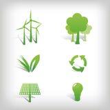 Iconos del vector del ambiente Fotografía de archivo libre de regalías