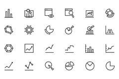 Iconos 1 del vector del Analytics de los datos Fotos de archivo