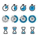 Iconos del vector del contador de tiempo libre illustration