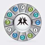 Iconos del vector del deporte Imagen de archivo libre de regalías