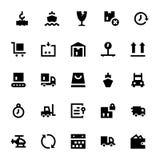 Iconos 1 del vector del envío y de la entrega Foto de archivo libre de regalías