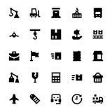 Iconos 3 del vector del envío y de la entrega Fotografía de archivo