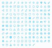 Iconos del vector del esquema para el web y el móvil Fotos de archivo