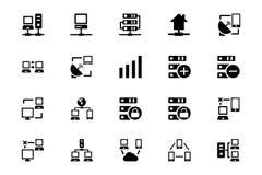 Iconos 3 del vector del establecimiento de una red libre illustration