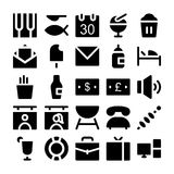 Iconos 4 del vector del hotel y del restaurante Imagen de archivo libre de regalías