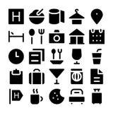 Iconos 1 del vector del hotel y del restaurante imágenes de archivo libres de regalías