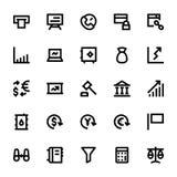 Iconos 1 del vector del mercado y de la economía Fotos de archivo