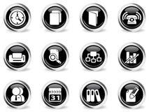 Iconos del vector del negocio Imágenes de archivo libres de regalías