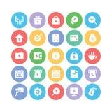 Iconos 9 del vector del negocio Imagen de archivo libre de regalías