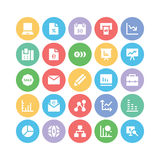 Iconos 5 del vector del negocio Foto de archivo libre de regalías