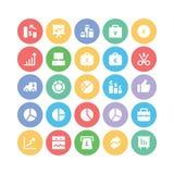 Iconos 6 del vector del negocio Imagenes de archivo