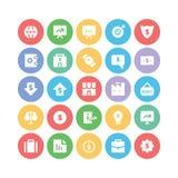 Iconos 3 del vector del negocio Fotografía de archivo libre de regalías