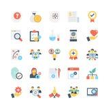 Iconos 7 del vector del negocio Imágenes de archivo libres de regalías