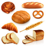 Iconos del vector del pan Fotografía de archivo