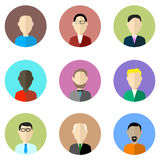 Iconos del vector del perfil de Avatar Imagen de archivo