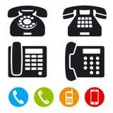 Iconos del vector del teléfono Imágenes de archivo libres de regalías