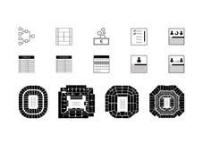 Iconos del vector del tenis Imágenes de archivo libres de regalías