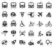 Iconos del vector del transporte Imagen de archivo libre de regalías