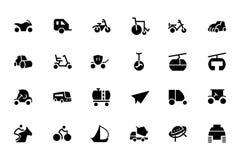 Iconos 4 del vector del transporte Imágenes de archivo libres de regalías