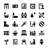 Iconos 6 del vector del turismo y del viaje Foto de archivo libre de regalías