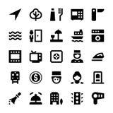 Iconos 8 del vector del turismo y del viaje Fotografía de archivo libre de regalías