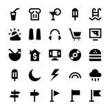 Iconos 7 del vector del turismo y del viaje Fotografía de archivo libre de regalías