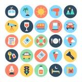 Iconos 3 del vector del viaje Foto de archivo libre de regalías