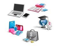 Iconos del vector en el tema del negocio Imagen de archivo