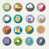 Iconos del vector fijados Imagen de archivo libre de regalías