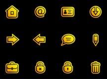 Iconos del vector fijados Imagenes de archivo