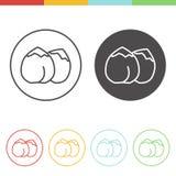 Iconos del vector del garbanzo Fotos de archivo
