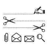 Iconos del vector para el cuaderno o la forma Imagen de archivo libre de regalías