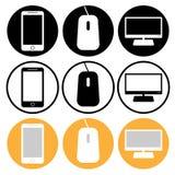 Iconos del vector para el web Fotos de archivo