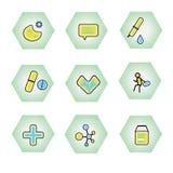 Iconos del vector para el web y las aplicaciones móviles Conjunto 20 Foto de archivo