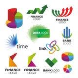 Iconos del vector para los bancos y las compañías financieras stock de ilustración