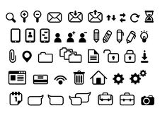 Iconos del vector para los interfaces stock de ilustración