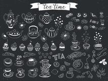 Iconos del vector del té ilustración del vector